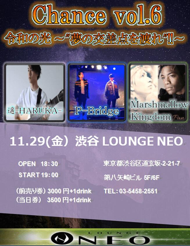 Chance vol.6 渋谷LOUNGENEO 11月29日 フライヤー